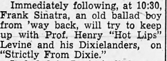 Sinatra on Strictly From Dixie