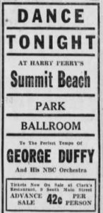 Duffy at Summit Beach in Akron