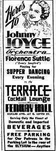 Florence Suttle at the Terrace Cocktail Lounge