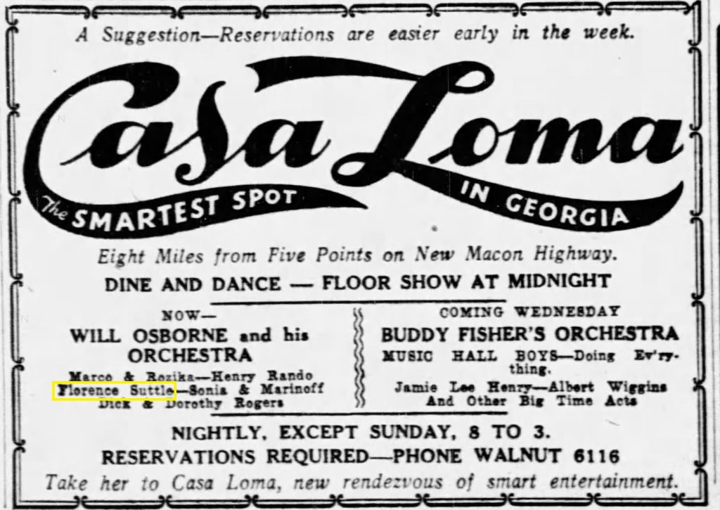 Ad for the Casa Loma 1936-07-19