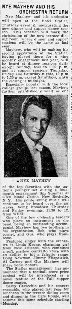 Linda Keene with Nye Mayhew September 1937