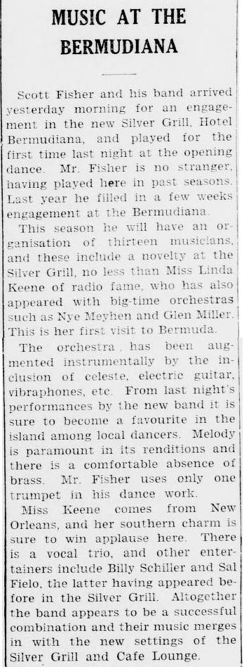 Linda Keene in Bermuda 1938