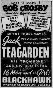 Jack Teagarden starting May 18, 1939
