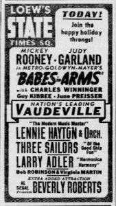 Loew's State Ad November 24, 1939