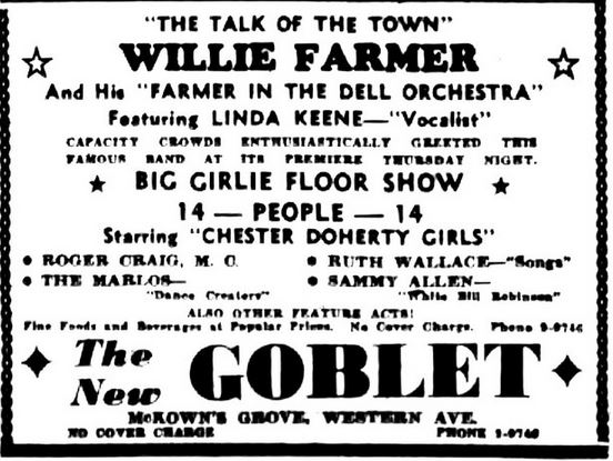 1939 Willie Farmer at The New Goblet, Albany