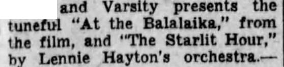 Balalaika review 1930