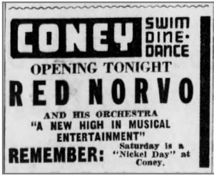 Ad for Coney Island July19, 1940