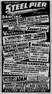Steel Pier Ad for July 14, 1940