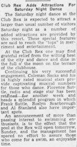 Florence Suttle held over at the Rex
