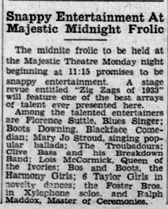 Florence Suttle, Blues Singer