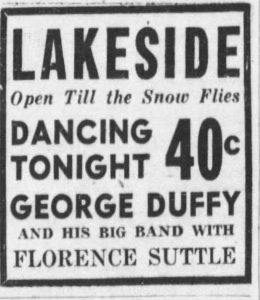 Ad for Florence Suttle at the Lakeside