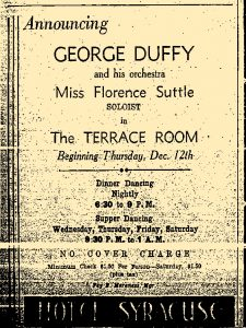 1935 at the Hotel Syracuse Duffy with Suttle
