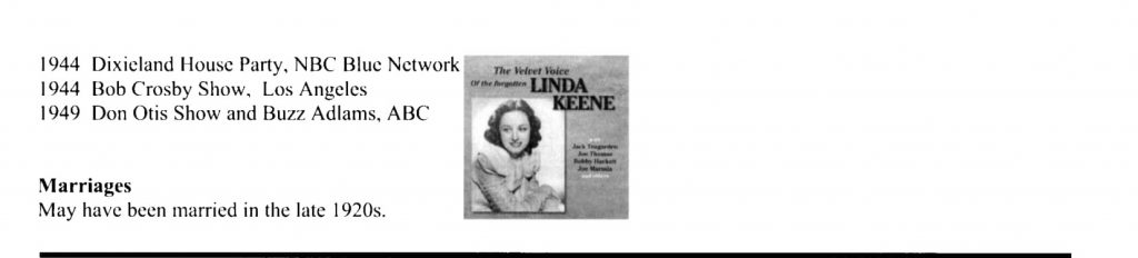 Linda Keene Her Elusive Fame Page 4