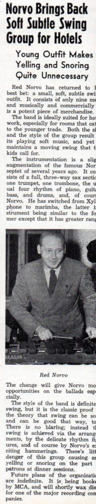 Norvo's new band Metronome, May 1940