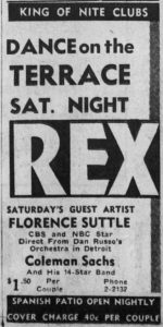 Florence Suttle at the Rex
