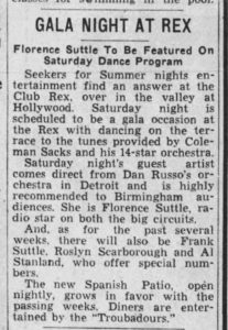Article about Suttle at the Rex