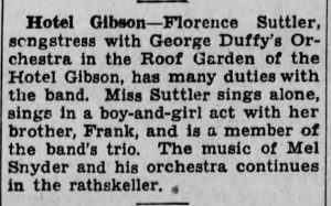 Florence Suttle with George Duffy