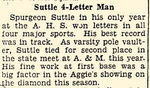 Spurgeon is an athlete