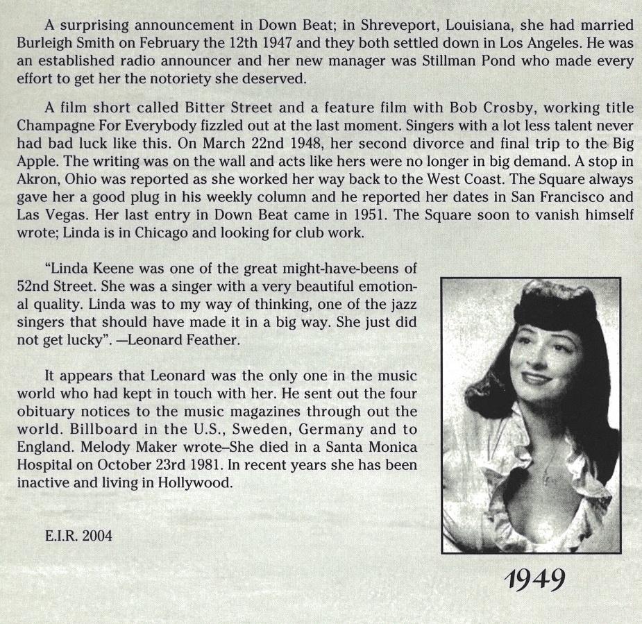 Linda Keene Booklet Page 3
