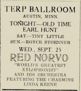 Norvo at the Terp Ballroom