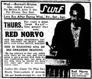 Norvo at the Surf