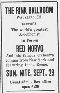 Red Norvo at the Rink Ballroom