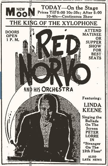 Red Norvo and Linda Keene in Vincennes