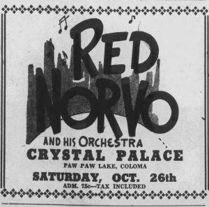 Red Norvo at Paw Paw Lake