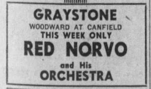 Norvo at the Graystone