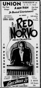 Red Norvo at the Union Theatre
