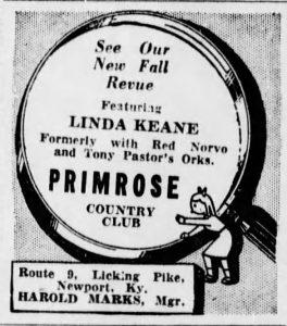Linda Keene at the Primrose Country Club
