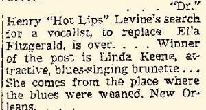 Linda Keene with Levine