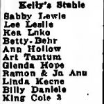 Variety Line-Up for January 1942