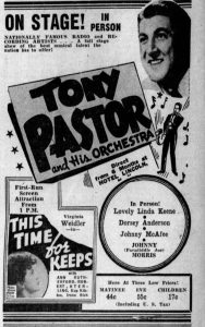 Tony Pastor and Linda Keene in Florida