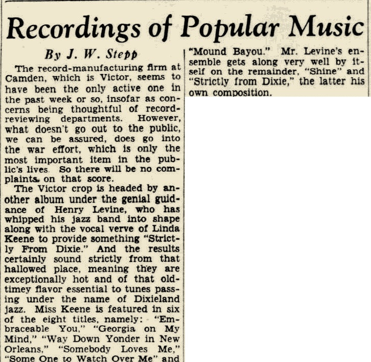review: 1942-05-03 Evening Star, Washington, Washington DC, US
