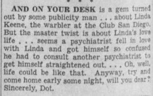 Psychiatrist in love with Linda