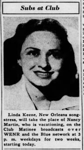 Linda Keene on Club Matinee