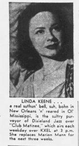 Linda Keene back on Club Matinee