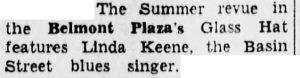 Linda Keene still at Glass Hat