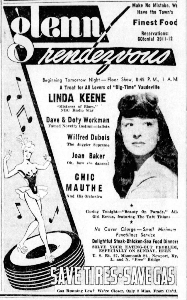 Linda Keene at the Glenn Rendezvous