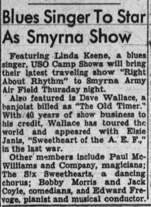 Linda Keene in the Rigth About Rhythm Show