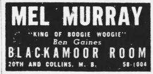 Blackamoor Room Ad August 1946