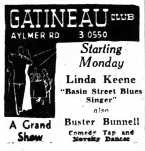 Linda Keene at the Gatineau Club