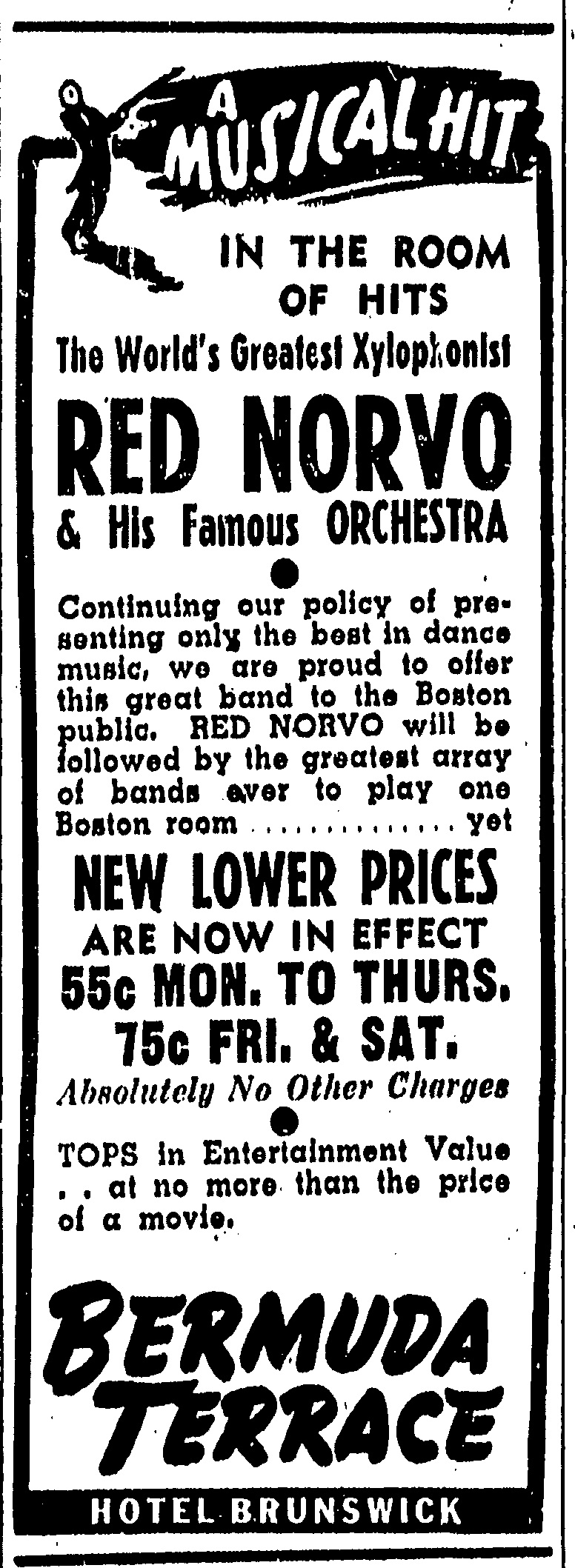 Red Norvo in Boston January 1941