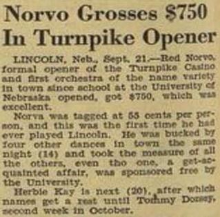 Norvo grosses $750 at Turnpike