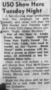 Linda Keene review of USO in Victoria, Texas
