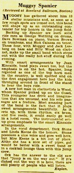 Billboard Review of Muggsy Spanier