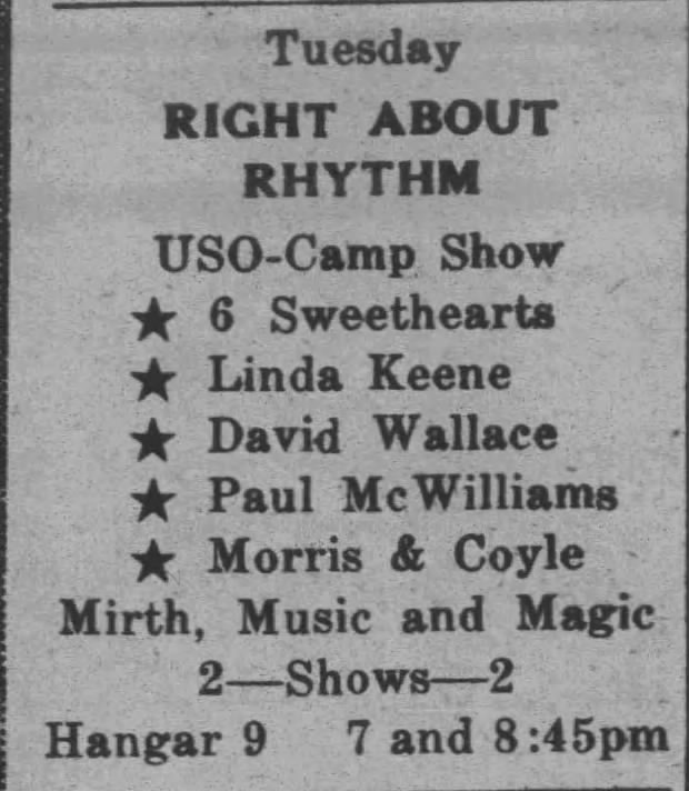 Linda Keene in the Right About Rhythm Show
