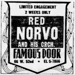 Red Norvo at the Famous Door