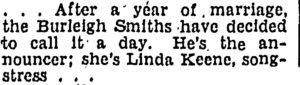 Linda Keene is divorcing again